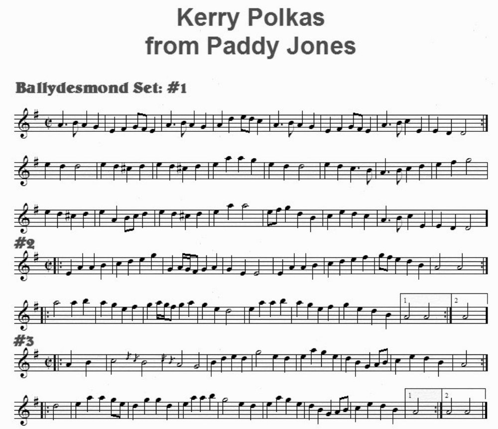 Notation of Kerry Polkas