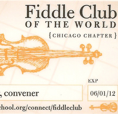 Fiddle Club member card (partial view)