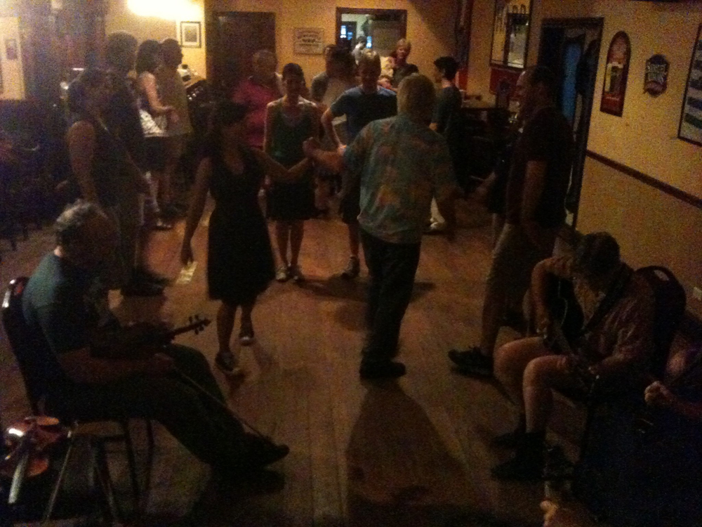 Paul Tyler calling a square dance