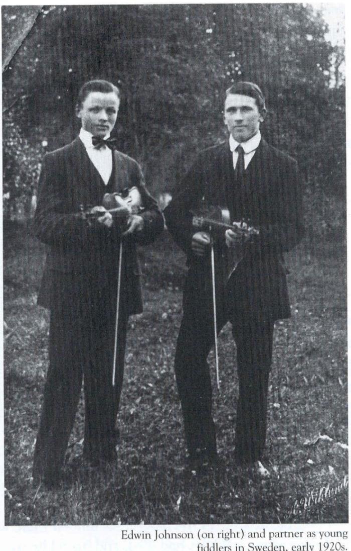 Edwin Johnson & friend