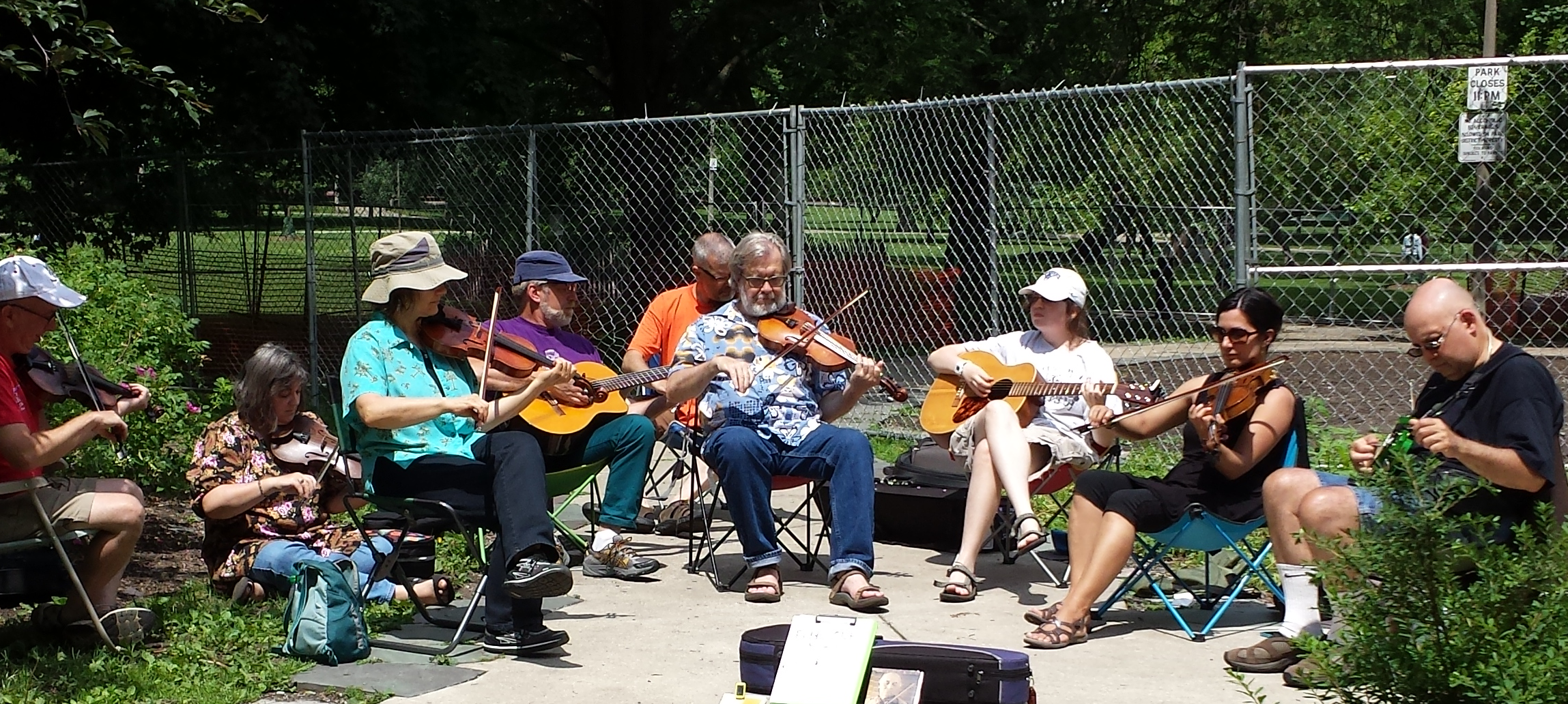 Fiddle Club at Make Music Chicago 2014